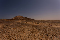 Western Sahara lanscape at night Royalty Free Stock Photo