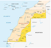 Western sahara map Stock Images