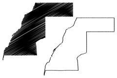 Western Sahara map vector. Illustration, scribble sketch Sahrawi Arab Democratic Republic Stock Photography