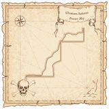 Western Sahara old pirate map. Stock Photography