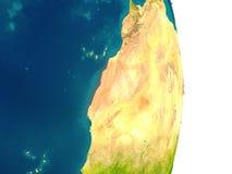 Western Sahara on planet Royalty Free Stock Image