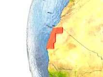 Western Sahara in red Royalty Free Stock Photography