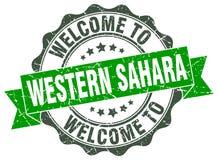 Western Sahara round seal Stock Photo