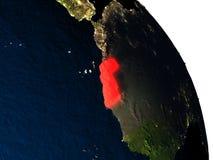 Western Sahara from space Stock Photos