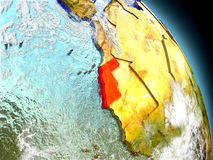 Western Sahara from space Stock Images