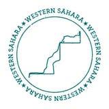 Western Sahara vector map. Royalty Free Stock Images