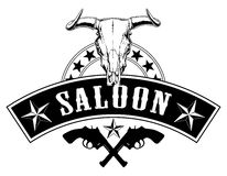 Western Saloon Design Royalty Free Stock Photo