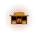 Western saloon icon, comics style Stock Photos