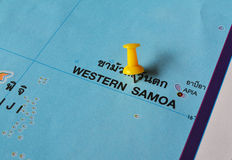 Western samooa map Stock Photos
