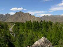 The western Sayan mountains. Picture of a mountain valley in the Western Sayan mountains Stock Photo