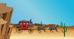 Western scene Stock Photography
