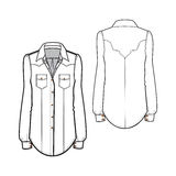 Western shirt stock illustration