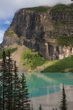 Western shore of Lake Louise Stock Photography