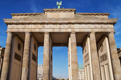 Western Side of the Brandenburg Gate Stock Photos