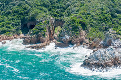 Western side of the Heads at Knysna lagoon Royalty Free Stock Photo