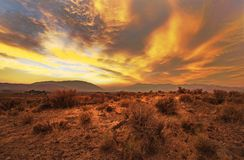 Western Smoke Nevada Sunset Royalty Free Stock Photos