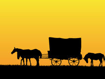 Western stage coach wagon Royalty Free Stock Image