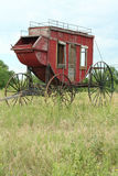 Western Stagecoach. An antique stagecoach that was used to settle the American West Stock Image