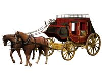 Western stagecoach 2 Stock Image