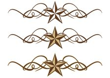 Western Star Scrolls. Three Western Star Scrolls in Vector Format