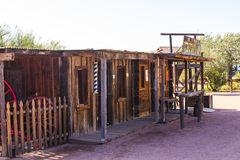 Western Store Fronts in Arizona Desert Stock Image