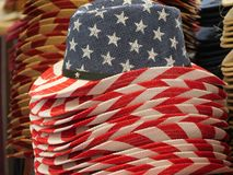 Western style american flag colors hats royalty free stock images
