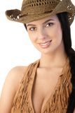 Western style female portrait Stock Photography