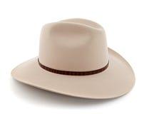 Western style hat. Western style felt hat on white background Royalty Free Stock Photography