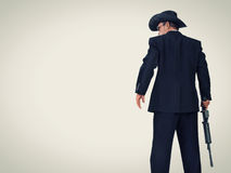 Western style hitman, with copy space Stock Image