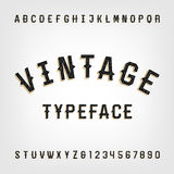 Western style retro distressed alphabet vector font. Stock Photography
