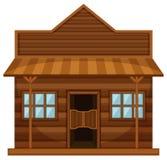 Western style of shop. Illustration royalty free illustration