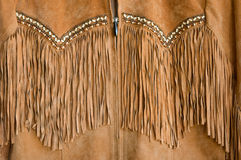 Western style suede apparel Royalty Free Stock Image