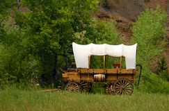 Western style wagon. Covered western style wagon, taken in South Dakota Royalty Free Stock Photo