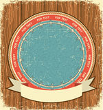 Western symbol background on old wood Stock Image