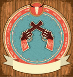 Western symbol background on wood Royalty Free Stock Images