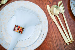 Western tableware Stock Photo