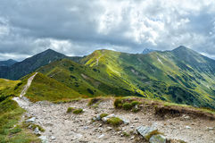 Western Tatras Mountains trail Royalty Free Stock Images