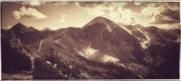 Western Tatras Mountains, view from Ornak Royalty Free Stock Images