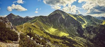 Western Tatras Mountains, view from Ornak Royalty Free Stock Photography