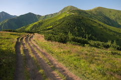 Western Tatras. Route in the Western Tatras leading to the mountains: Rakon and Wołowiec Stock Images