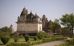 Western temple group, Khajuraho Royalty Free Stock Images