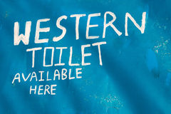 Western toilet sign Stock Image