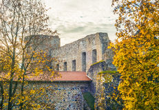 The Western Tower of the Cesis castle Stock Photos