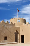 Western tower of with flag in Riffa fort Bahrain Royalty Free Stock Photos
