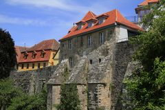 The western town gate, Rothenburg ob der Tauber Royalty Free Stock Photos