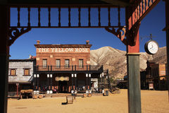 Western town. The western town `Mini Hollywood` in Tabernas, Spain used as a movie location for spaghetti westerns Stock Photo