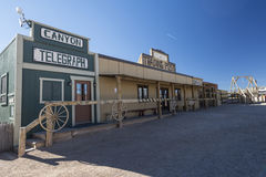 Western town. An old western town scenery in the mid-west Royalty Free Stock Photos