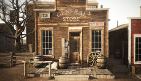 Free Western Town Rustic General Store. Stock Image - 96363161