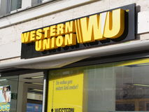 Western Union. Establishment in germany Royalty Free Stock Photo