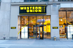 Western union location. A shot of a western union location Royalty Free Stock Photos